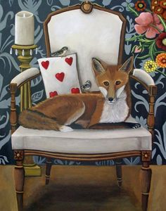 Catherine Nolin Art Studio: Fox and Sparrows - New painting