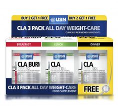 USN CLA 3 Pack All Day Fat Loss Caps
