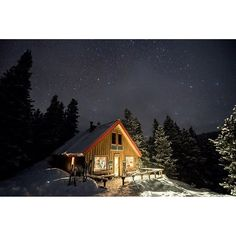 McNamara Hut Under The Stars by Jason Hatfield is featured in Axe & Hammer's extensive photography collection. Original, high-quality prints from authentic photographers. Tiny House, Country, House Styles, Cabins, Universe, Painting, Instagram, Home Decor, Art