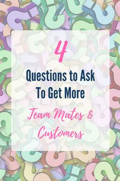 Want to be able to get more team mates & customers easier? If you ask yourself these 4 questions, it'll really help you understand what they want and how to position yourself and your products to connect with them, and attract them to your network marketing or direct sales business.