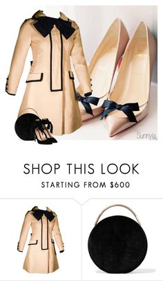 """""""Coat with Bow"""" by sunnyia ❤ liked on Polyvore featuring I. Magnin, Eddie Borgo and Gianvito Rossi"""
