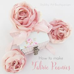 DIY Fabric Peonies - Shabby Art Boutique