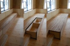 photo(C)鳥村鋼一 仲俊治+宇野悠里 / 仲建築設計スタジオが設計した長野県白馬の「白馬の山荘」です。 以下、建築家によるテキストです。 ********** 地続きの床と大きな透明屋根 長野県白馬村は日本有数の豪雪地帯で、年間の寒暖の差も激しい。冬は日照が少なく、敷地周辺では雪が2mほど積もり、気温は氷点下20 度まで下がる。夏は日照はあるが風がなく、森の中は意外と蒸し暑い。豪雪のため軒の出を大きく出せず、この地域の住宅や別荘は地面から1mほどの高床となっている。結果として、使い方の面において、豊かな自然から切り離された建築になっている。 そこでこの週末住居では、まず屋根を大きくし、 建物を沈めて床を地面と揃えた。屋根の下の半分を広場(=外部)とし、残りの半分にキッチンやストーブを設えた。広場には季節や使い方に応じて蚊帳やビニールカーテンを吊すことができる。広場を開放的にするため、屋根勾配は緩くした。屋根材には軽量で高強度の透明ポリカーボネート折板を用い、格子フレームをハシゴ状の構造体の上に載せることで、 積雪2.5mに耐える軽快で明るい屋根を実現でき...