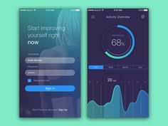Fitness App by Katya Syuma