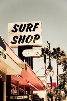 vintage SoCal surf shop