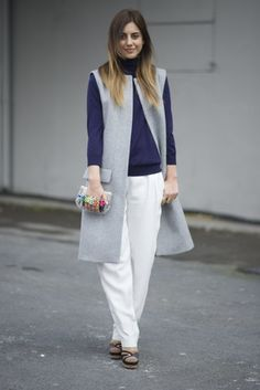 From flowing to straight cut, wide-leg pants are a must this Fall. Easy to wear with blouses or a cozy sweater, they're so comfortable — and just a bit more forgiving than your skinnies. It's kind of like wearing your favorite sweats but even better! Source: Getty / Timur Emek