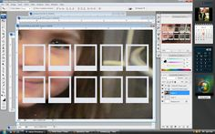 step 3 Photoshop Tutorial- Polaroid Magnets [template using photoshop]  •Open the downloaded Polaroid file in Photoshop, along with the photo you want to use. Using the Rectangular Marquee Tool (circled in orange), create a box around the portion of the image you want in the frame. •Click on the Move Tool (circled in black). You can use this to drag your selected image over onto the Polaroid template. •Your image might be a lot bigger than the template. Still using the move tool, drag the im...