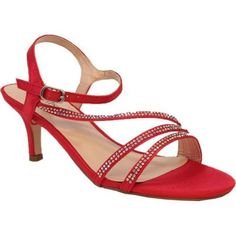 Vanna is a strappy sandal lined in rhinestones. Her kitten heel and cushioned sole offers a timeless look and easy wear.