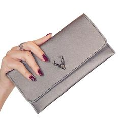 Cheap wallet lady, Buy Quality women wallets directly from China clutch wallet Suppliers: Clutch Wallets Lady Purses PU Leather Long Girls Deer Wallet Cards ID Holder Moneybags Clips Female Envelope Bags Women Wallet Purse Holder, Id Holder, Card Wallet, Clutch Wallet, Swag, Popular Handbags, Ladies Purse, Unique Purses, Wholesale Bags