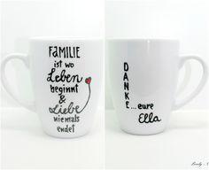 Becher & Tassen - Geschenk Familie Tasse für deine liebe Familie - ein Designerstück von Lovely-Cups bei DaWanda