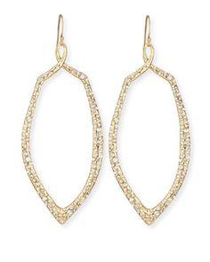 Alexis Bittar Golden Crystal Teardrop Earrings