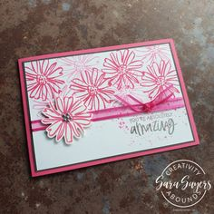 You're Absolutely Amazing Simple in-color cards - KISS Kreative Skeleton Flower, Color Contour, Some Cards, Basic Grey, Flower Images, Off Colour, Color Card, Line Drawing, How To Introduce Yourself