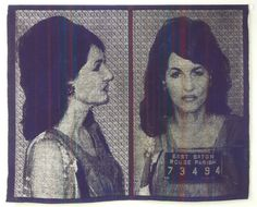 This is beautiful and amazing...woven mugshots. Joanne Arnett: Two Years and a Fine of $2000