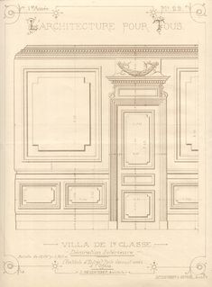 Panel Moulding, Wall Molding, Moldings, French Interior, Classic Interior, Architecture Details, Interior Architecture, Versailles, Gypsum Ceiling Design