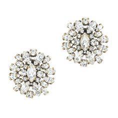 J.Crew crystal shimmer earrings.