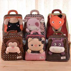 Brand New 3D Animal shaped children backpack double shoulder school bag kids cartoon mochila infantil mochilas escolares
