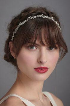 crystal headband.