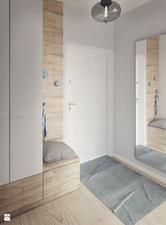 Przedpokój- z siedziskiem i pojemną szafą - zdjęcie od Mohav Design - Hol / Przedpokój - Styl Nowoczesny - Mohav Design