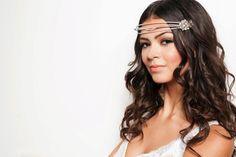 BRIDAL MAKEUP: Beachy Bridal makeup: bronzed eyeshadows, sunkissed skin and coral lip.  Soft waves and tiara worn as hippy chic headband.  www.rdArtistry.com