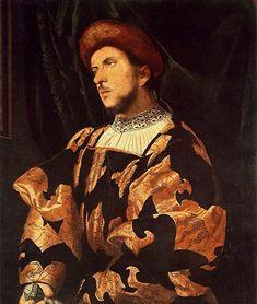 Girolamo Romanino (1485–1566) Portrait of a Man Datebetween 1520 and 1525Mediumoil on panelDimensionsHeight: 83 cm (32.7 in). Width: 72 cm (28.3 in).Current location Museum of Fine Arts (Budapest)