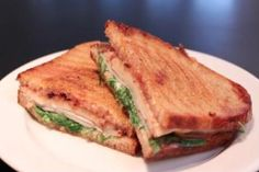 Grilled Turkey, Swiss and Cranberry Sandwich | A fresh alternative to the classic grilled cheese. This sandwich marries sweet cranberry sauce with savory smoked turkey and Swiss cheese.