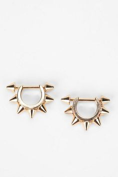 Jagger Spike Earring | I want these, but made out of actual gold, not weird cheap metals and plastic.