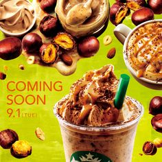 先行告知 Iced Tea, Starbucks, Cereal, Stuffed Mushrooms, Sweets, Vegetables, Breakfast, Food, Web Design