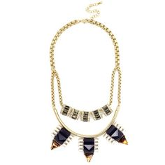This two-stranded necklace is edgy, just like you. The geometric gemstones are so modern, while the classic navy keeps it chic. Preppy Girl, Jewelry Trends, Turquoise Necklace, Jewelery, Fashion Jewelry, Victoria, Pendant Necklace, Gemstones, Chic