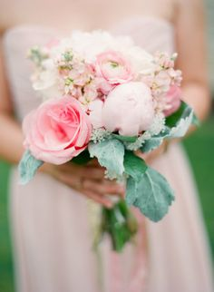 Pretty in pink: http://www.stylemepretty.com/2014/12/29/whimsical-pastel-wedding-in-rochester/   Photography: Emily Steffen - http://www.emilysteffen.com/