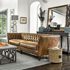 A sofa is stylish, but comfort should always be more priority. If you're looking for the most comfortable couch, choose one of these 3 sofa types. Hudson Furniture, Living Furniture, Living Room Sofa, Living Room Decor, Living Spaces, Most Comfortable Couch, Tufted Leather Sofa, Leather Chairs, Sofa Table Design