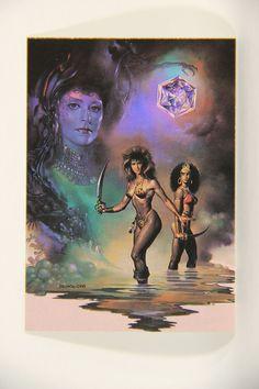 L010241 Boris Vallejo 1991 Card / Magic Crystal - 1988 - Card #44 / ARTWORK