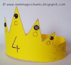 Corona di compleanno fai da te di cartone