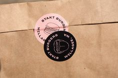Branding, identity & art direction for Burger Bar STAKT Based in Perth, Australia Burger Branding, Burger Packaging, Cafe Branding, Food Branding, Brand Packaging, Branding Ideas, Corporate Branding, Logo Sticker, Sticker Design