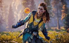 this little ufo will never leave her alone ____________________________ Check out these pages for some awesome pictures! @horizon.zero.dawn @day.... - Horizon Zero Dawn (@i.am.the_z)