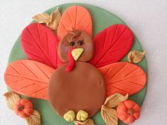 Fondant Turkey Cake Topper by LeSugarBoutique on Etsy, $19.50