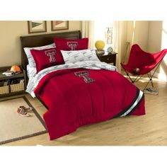 NCAA Texas Tech Red Raiders Bedding Set by Northwest. $86.99. Unisex Adults. Please Check Item Specifics. Officially Licensed Texas Tech Red Raiders Bed in a Bag Bedding Set. Polyester/Cotton blend. Twin has 1 sham and 1 pillowcase/Full has 2 shams and 2 pillowcases (not pictured). 1COL/88100/4035/BBB Size: Full Features: -Material: Polyester / cotton blend.-Make your room announce your love for America's favorite pastime sport. Includes: -Twin size set includes sham, pil...