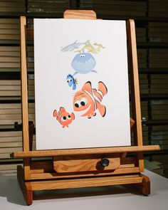 All the layers of this heavily stylized Finding Nemo design were hand-painted in gouache and scanned for final digital illustrations in the Pixar Golden Book.