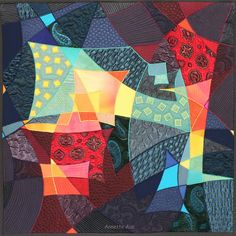 """""""Erinnerungen / Memories"""" - Art Quilt von Annette Aue"""