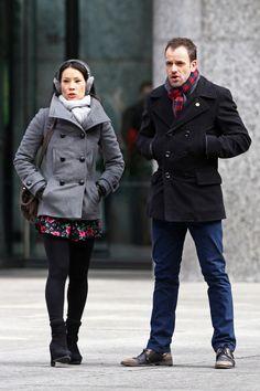 Jonny Lee Miller and Lucy Liu Film 'Elementary'