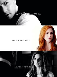 """Darvey... When Harvey said """"I cannot be me without u Donna"""".. <3"""