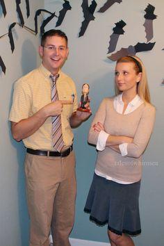 Dwight and Angela DIY Halloween Costume #theoffice #dwight #halloweencostume
