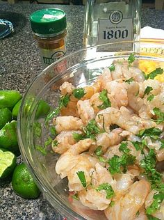 Tequila, cilantro, cayenne pepper Marinated Shrimp Skewers. Onions, pineapple, and grape tomatoes