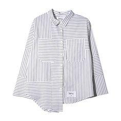 Stripes shirt.