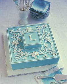 Monogram cake, Love this idea!