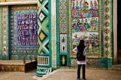 "In old quarters of Kermanshah in Abshoran alley-ways, the building ""Takiye moaven ol-molk"" was built in 1940. Iran #Persia"