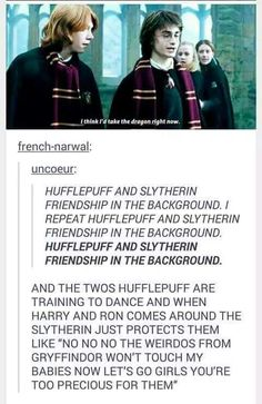 slytherpuff relationships are the best ones