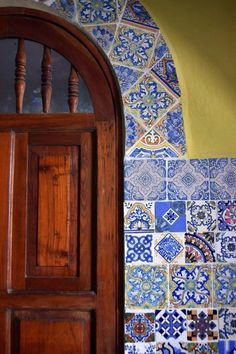TILES <3 http://www.apartmenttherapy.com/bennes-cantina-turned-casa-in-the-yucatan-house-call-200591