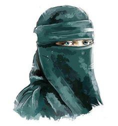 Hijabi Girl, Girl Hijab, Muslim Couples, Muslim Girls, Palestine Art, Street Hijab, Hijab Drawing, Islamic Cartoon, Niqab Fashion