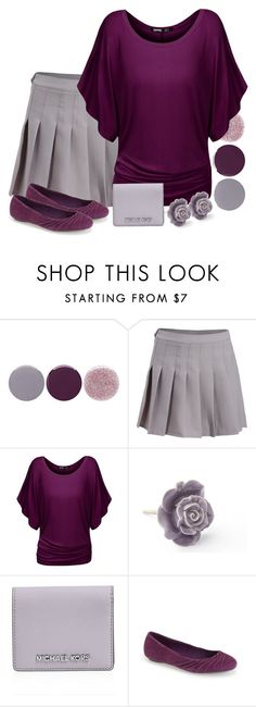 """""""Pantone Spring: Lilac Gray"""" by mary-grace-see on Polyvore featuring Smith & Cult, MICHAEL Michael Kors, Hush Puppies, gray, lilac, pantone, spring2016 and lilacgray"""