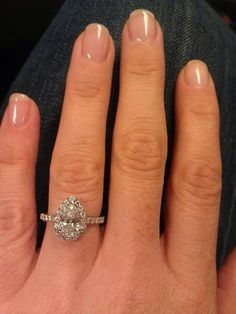 Pear shaped engagement/wedding rings